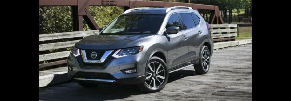 Silver 2019 Nissan Rogue Sport parked on bridge